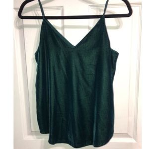 EXPRESS Velvet Emerald Green Tank